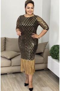 Платье Бахрома ромбик