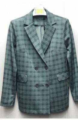 Пиджак пиджак Клетка двубортный / Клетка двубортный