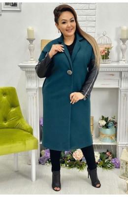 Пальто Пальто с кожей / Пальто с кожей