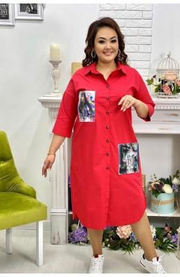 Платья Платье рубашка 3 D 002 / Платье рубашка 3D 002