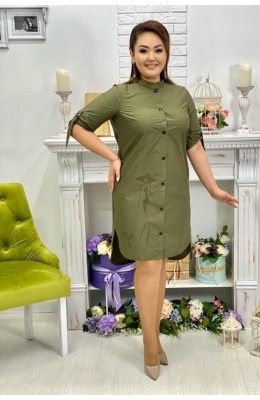 Платья Платье рубашка Клёпки / Платье-рубашка Клёпки